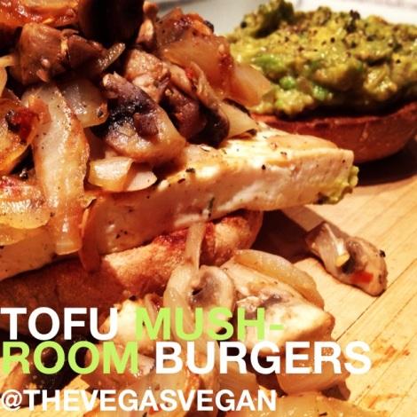 tofu mushroom burgers