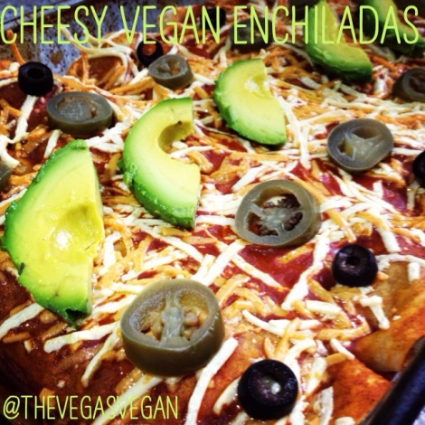 Cheesy Vegan Enchiladas