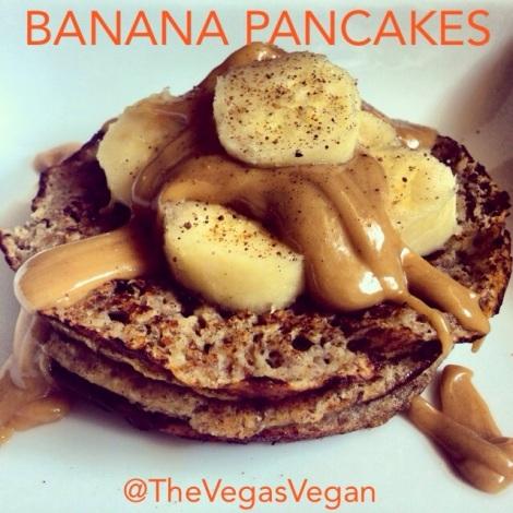 Banana Pancakes & PB Sauce