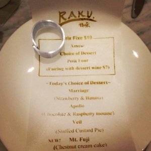 Raku Edible Menu