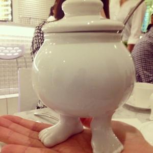 Raku Sugar Dish